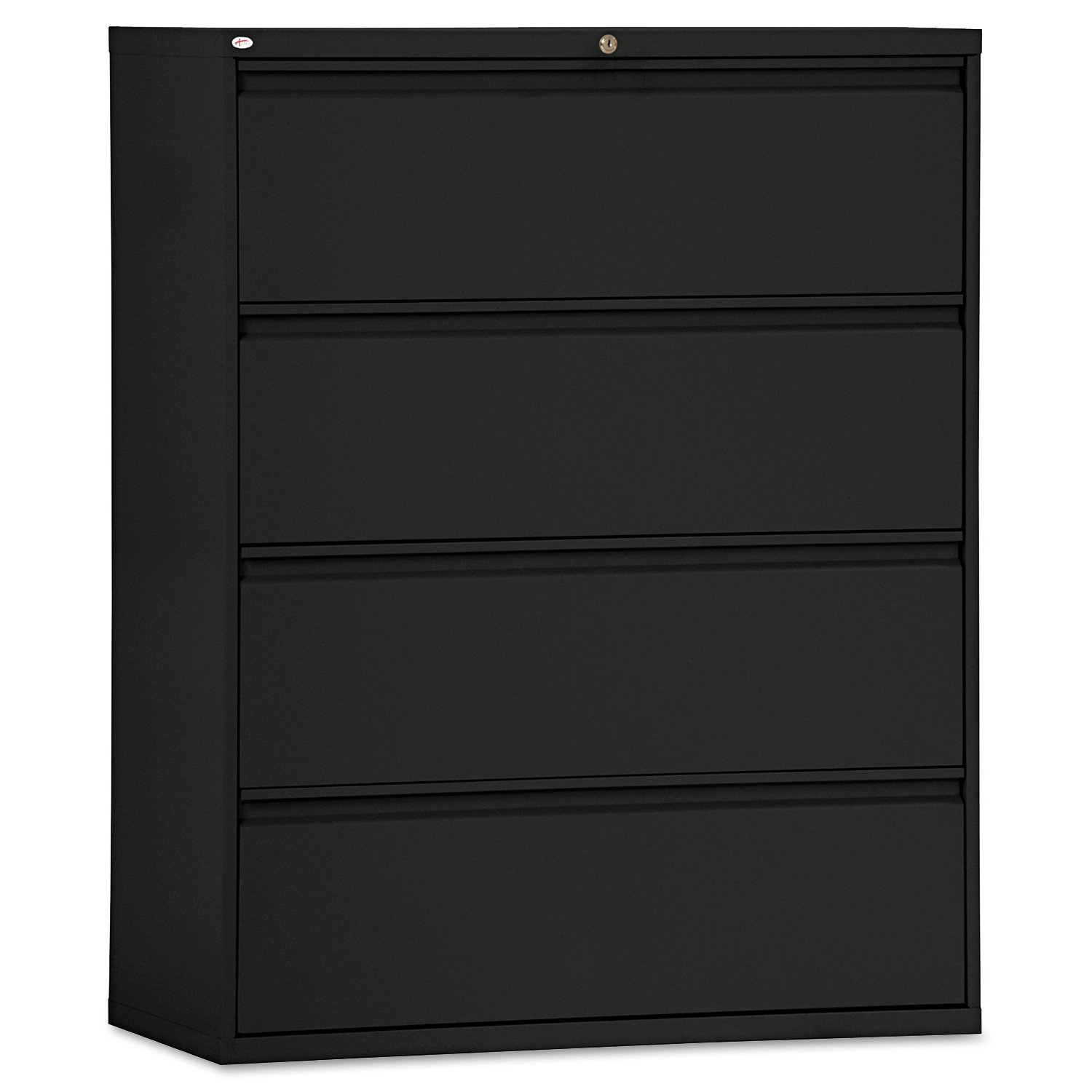 Amazon.com: Alera 4-Drawer Lateral File Cabinet, 36 by 19-1/4 by 54-Inch,  Black: Kitchen u0026 Dining