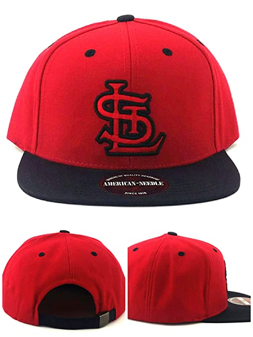 sale retailer 8078b 43068 ... good american needle st. louis cardinals new vintage red black era  strapback hat cap c81e8