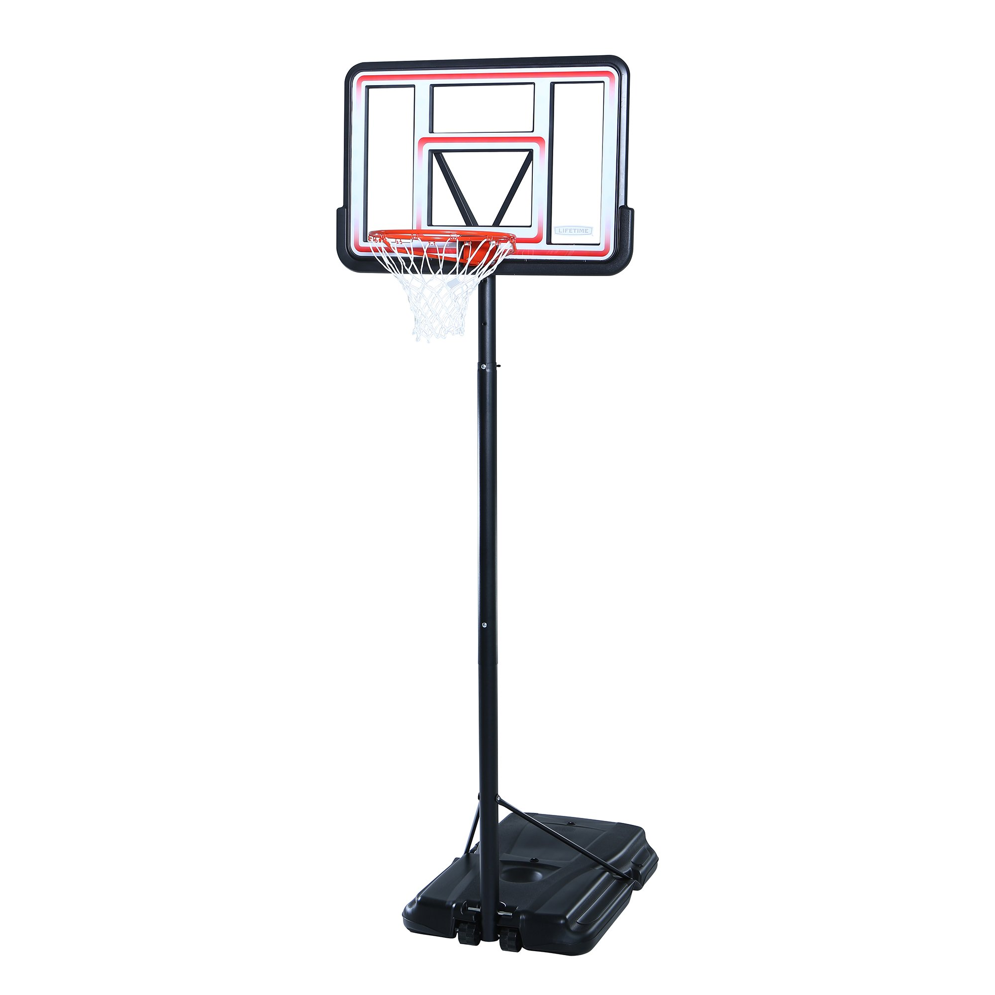 Lifetime 1269 Pro Court Height Adjustable Portable Basketball System, 44 Inch Backboard by Lifetime (Image #1)