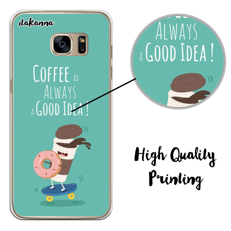 dakanna Funda para Samsung Galaxy S7 Edge | Comida Café y ...