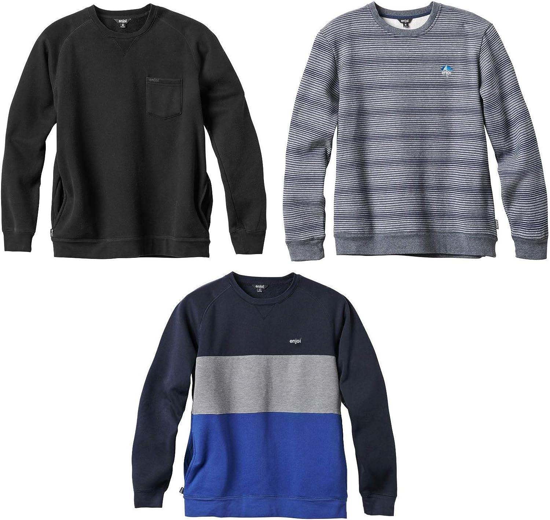Enjoi Skateboard Crew Sweater Sweatshirt 3-Pack