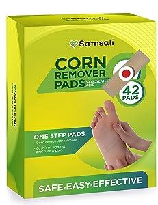 Samsali Corn Remover, 42 Corn Remover Pads, Toe Corn and Callus Removal, Corn Treatment Pads, Best Corn Remover Pads for Foot Corn Removal, 42 Pads