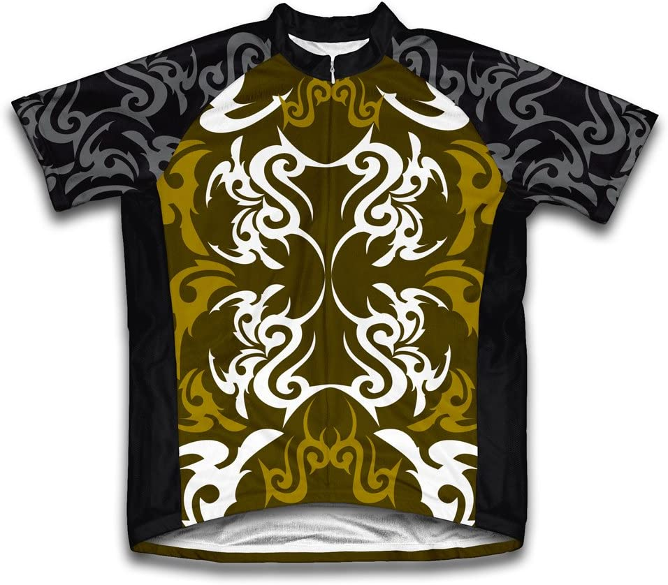 ScudoPro Green Black Tattoo Sheme Short Sleeve Cycling Jersey for Women