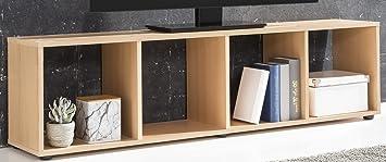 Raumteiler Mit Tv tv lowboard buche dekor raumteiler buche tv aufsatz buche 3233