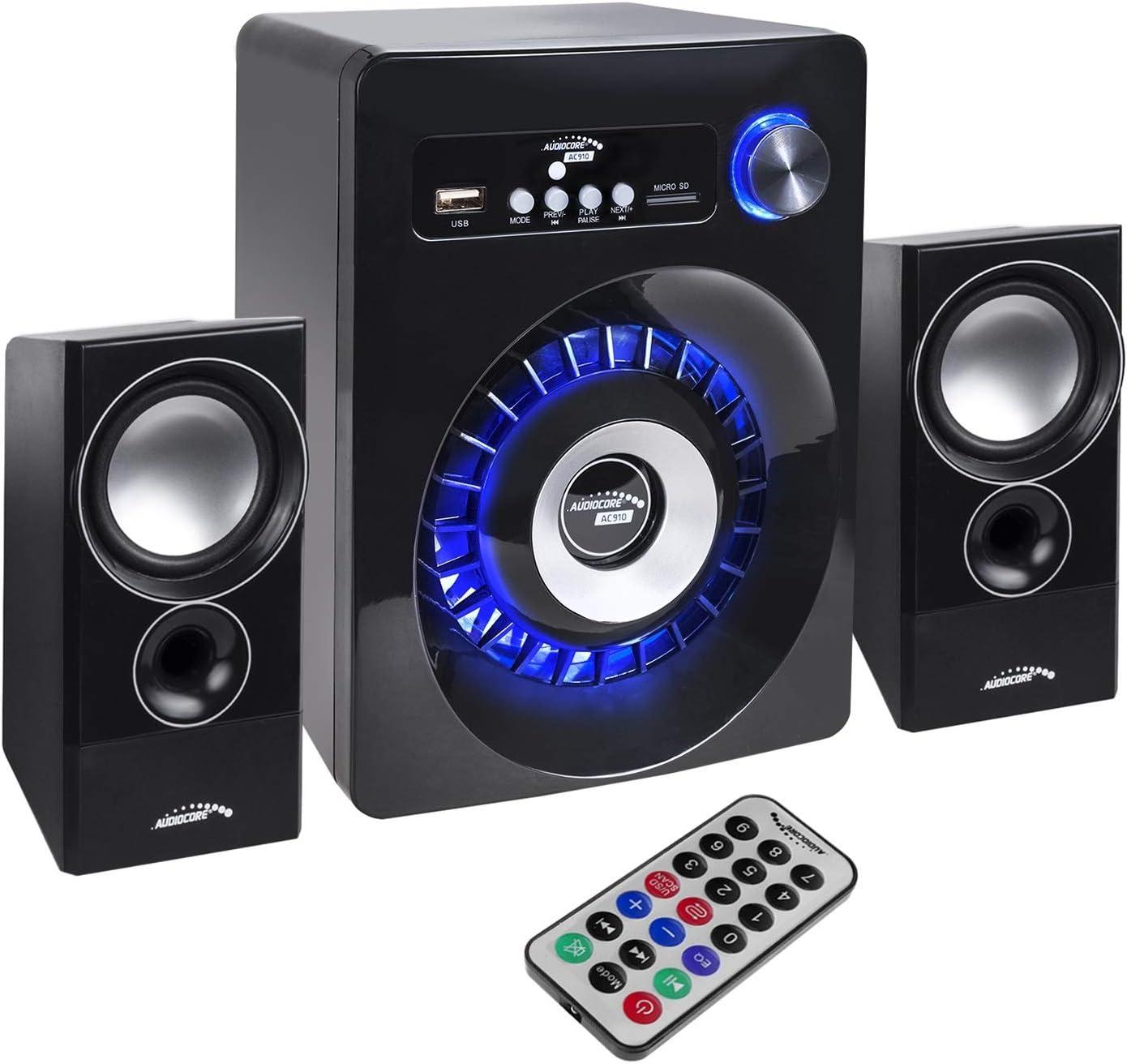 Altavoces portátiles Audiocore AC910 Bluetooth 2.1 Altavoz FM Radio, Entrada de Tarjeta TF, AUX, alimentación USB