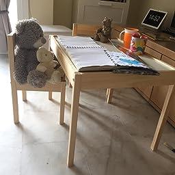 IKEA LÄTT Mesa para niños con 2 sillas, blanco, pino - 501.784.11 ...