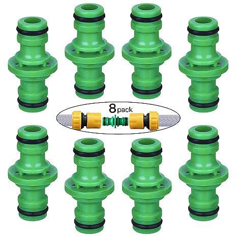 Feigo Set Di 8 Raccordi Per Tubi 1 2 Connettore Doppio Per