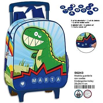 Amazon.com | Montichelvo Kindergarten Trolley Pr Dino Travel ...