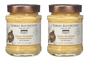 Robert Rothschild Farm Onion Blossom Horseradish (10.1 z) - Dip & Spread - Pretzel and Vegetable Dip - Roast Beef, Pork, Sausage Sauce - Sandwich Spread Pack of 2