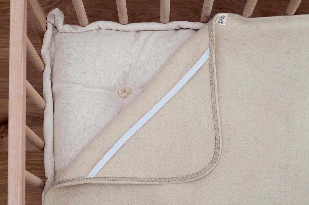 crib Wool Puddle Pad//Protector//Moisture Barrier//Cover for changing table cradle or bassinet mattress