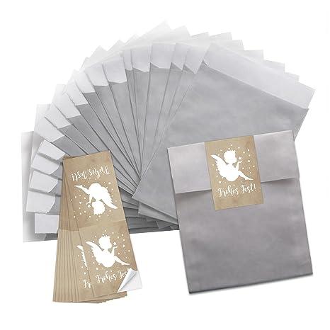 10 Piccoli Color Argento Della Carta Tuetchen 13 X 18 Cm 10