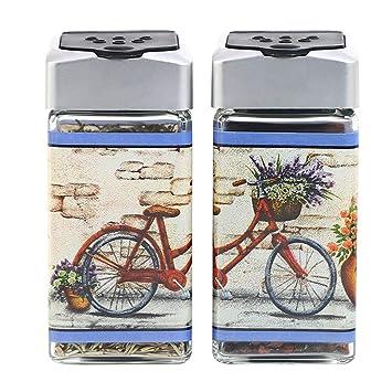 Frasco De Vidrio Para Uso DoméStico Botella De Condimento SóLido Utilizado Para Almacenar Pimienta/Comino En Polvo/Sal / AzúCar: Amazon.es: Hogar