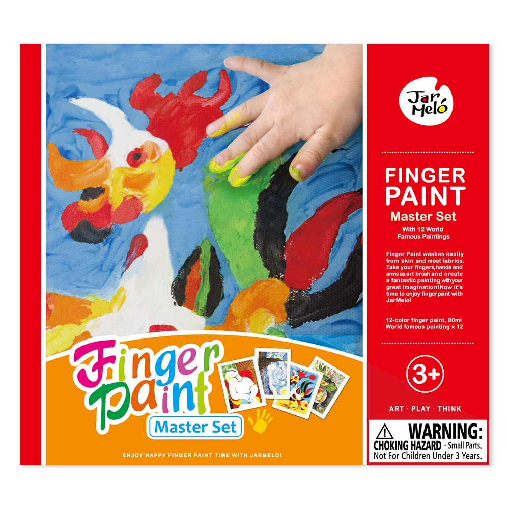amazon com jar melo finger paint masterpiece 12 colors of pigment