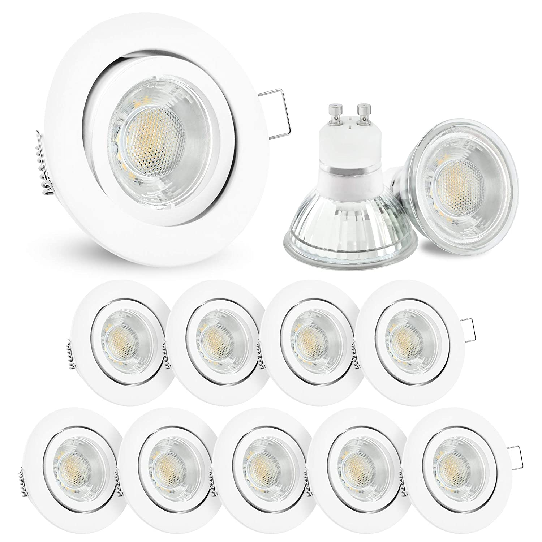 1-10er Set LED Deckenleuchte Einbauspots Einbaustrahler Einbaulampe 230V dezent