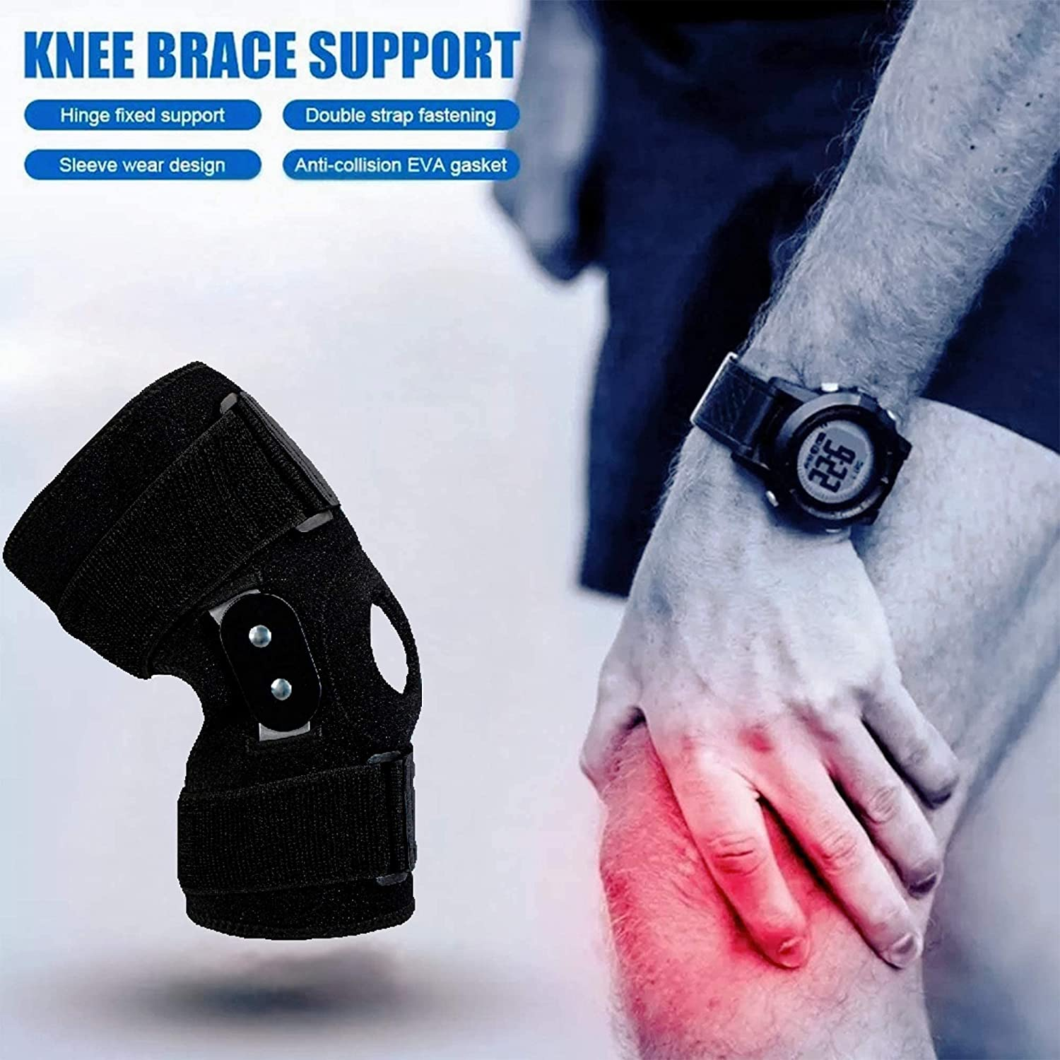 Decompression Knee Brace, Stable Support of The Knee, Effective Relief of ACL, Arthritis, Meniscus Tear, Tendinitis Pain, Adjustable Compression Band, Suitable for Men and Women: Industrial & Scientific