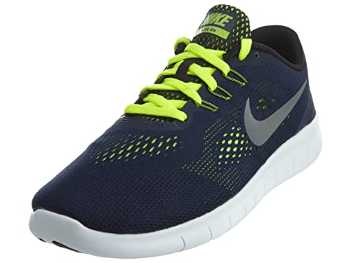 low priced 90b1f f0626 Nike 833989-403  Free RN Youth(GS) Running Shoes Navy (Obsidian Metallic  Silver-Volt, 5. 5 Y US)  Buy Online at Low Prices in India - Amazon.in