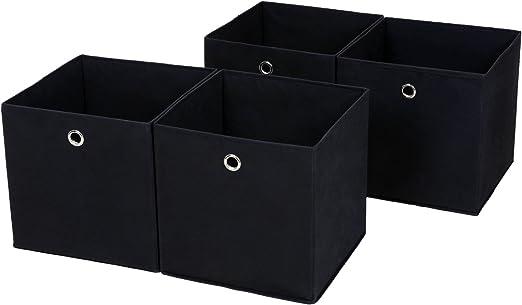 Songmics RFB02H-2 - Juego de 4 cajas plegables con agujero para ...