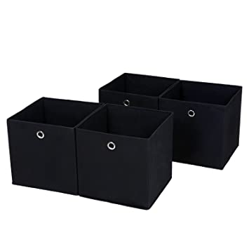 Songmics 4 Stuck Faltbare Aufbewahrungsbox Faltbox Mit Fingerloch 30