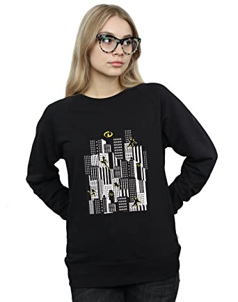 b2405c53955da1 Disney Damen The Incredibles 2 Skyline Sweatshirt: Amazon.de: Bekleidung