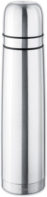 Isosteel VA-9901D 34 fl. oz, Double Walled Duo-Vacuum Flask, 2 Stainless Steel/Plastic Screw-on Mugs, Food Grade 18/8 Stainless Steel