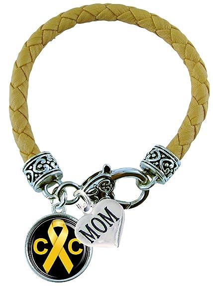 Amazon Com Bracelet Custom Childhood Cancer Awareness Yellow