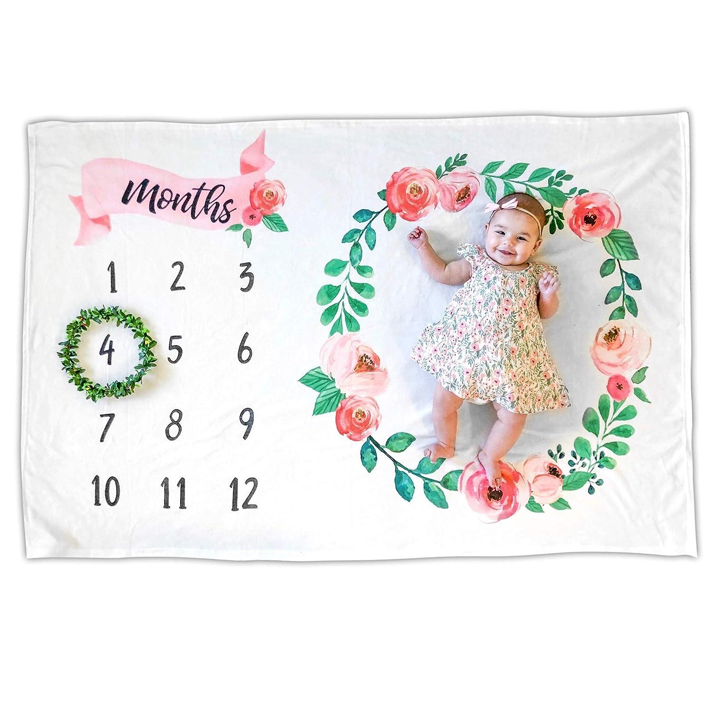 Amazon.com: Mensual bebé Milestone | Premium manta polar ...