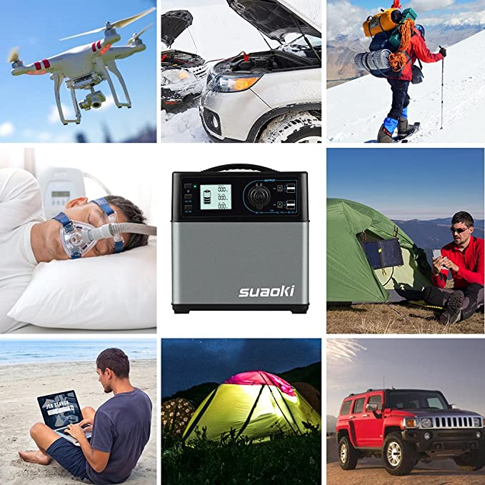 Amazon.com: SUAOKI 400Wh/120,000mAh Portable Generator Power Station Power Supply with Quiet 300W DC/AC Inverter, 12V Car, DC/AC/USB Outputs for Outdoors ...
