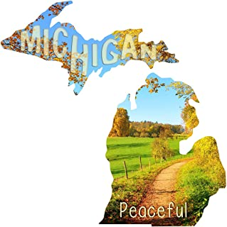 product image for Next Innovations Metal Wall Art Michigan State Shape Peaceful Road