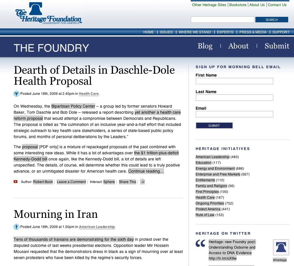 Amazon com: The Foundry @ The Heritage Foundation: The