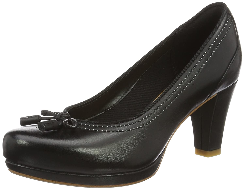 Clarks Chorus Bombay, Zapatos de Tacón para Mujer 38 EU Negro (Black Leather)