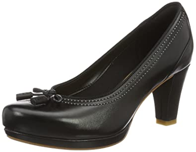 Clarks Chorus Bombay, Escarpins Femme, (Black Leather), 35.5 EU