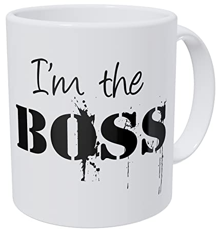 b53d104da29 Image Unavailable. Image not available for. Color: Wampumtuk Thug I'm The Boss  11 Ounces Funny Coffee Mug