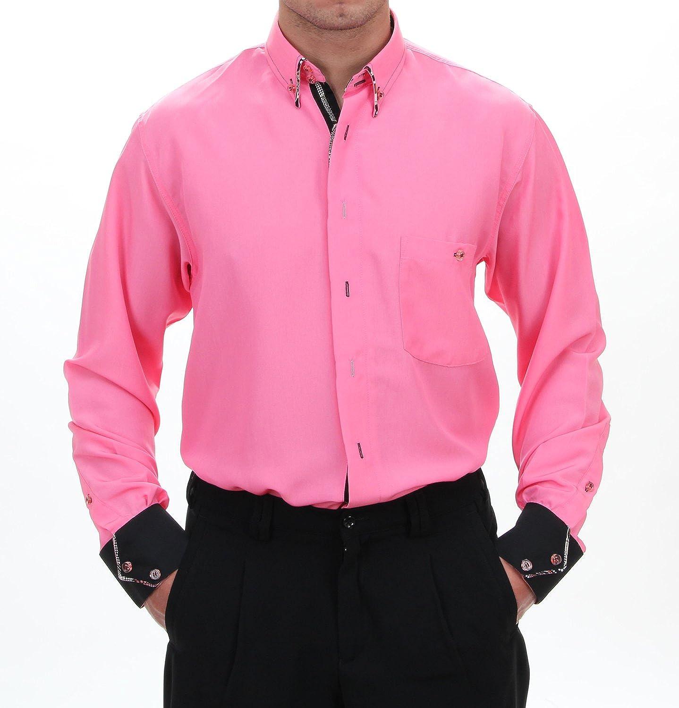 Luxus Camisas de diseño en color rosa, para hombre mejor calidad, HK almendra excepcional Camisa Manga Larga normal No entallado, 3034 Helles Rosa X-Large: Amazon.es: Ropa y accesorios