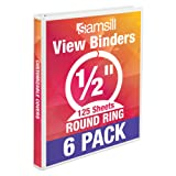Samsill Economy 3 Ring View Binders, .5 Inch