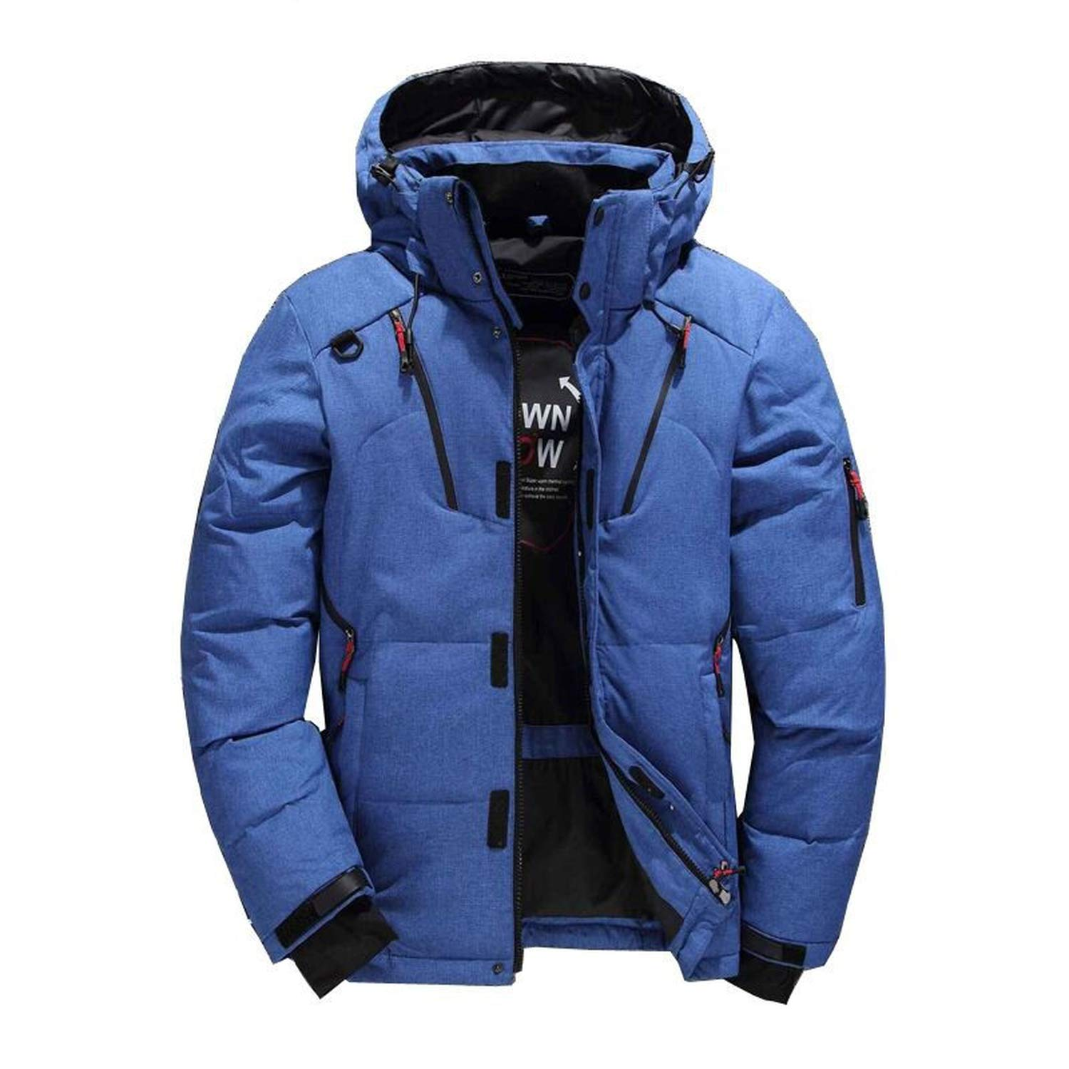 Opernfyh Men's Frost Fighter Insulated Jacket Winter Hooded Packable