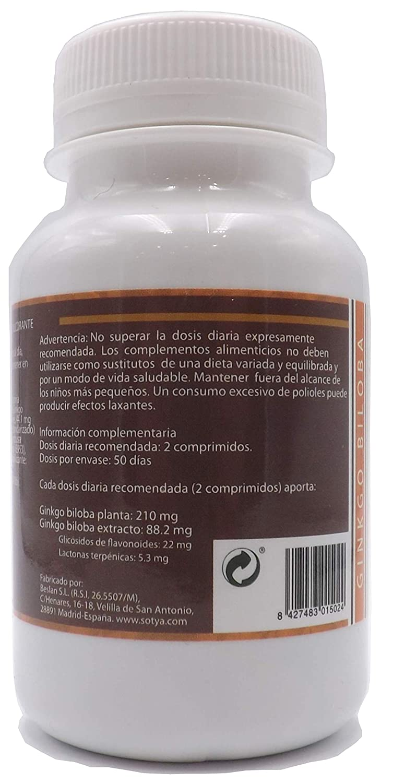 SOTYA GINKGO BILOBA 200 MG 700 MG: Amazon.es: Salud y ...