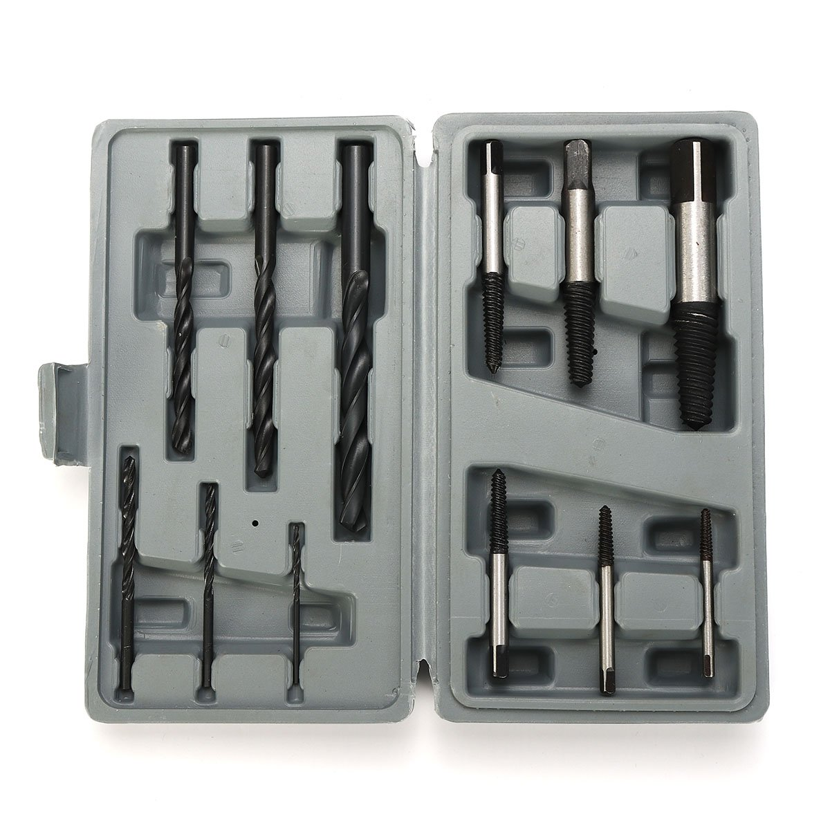 Yingte Screw Stud Extractor Remover Set, 12Pcs HSS Stud Screw Extractor Remover Tool Set Reverse Thread Easy Out 3-25mm