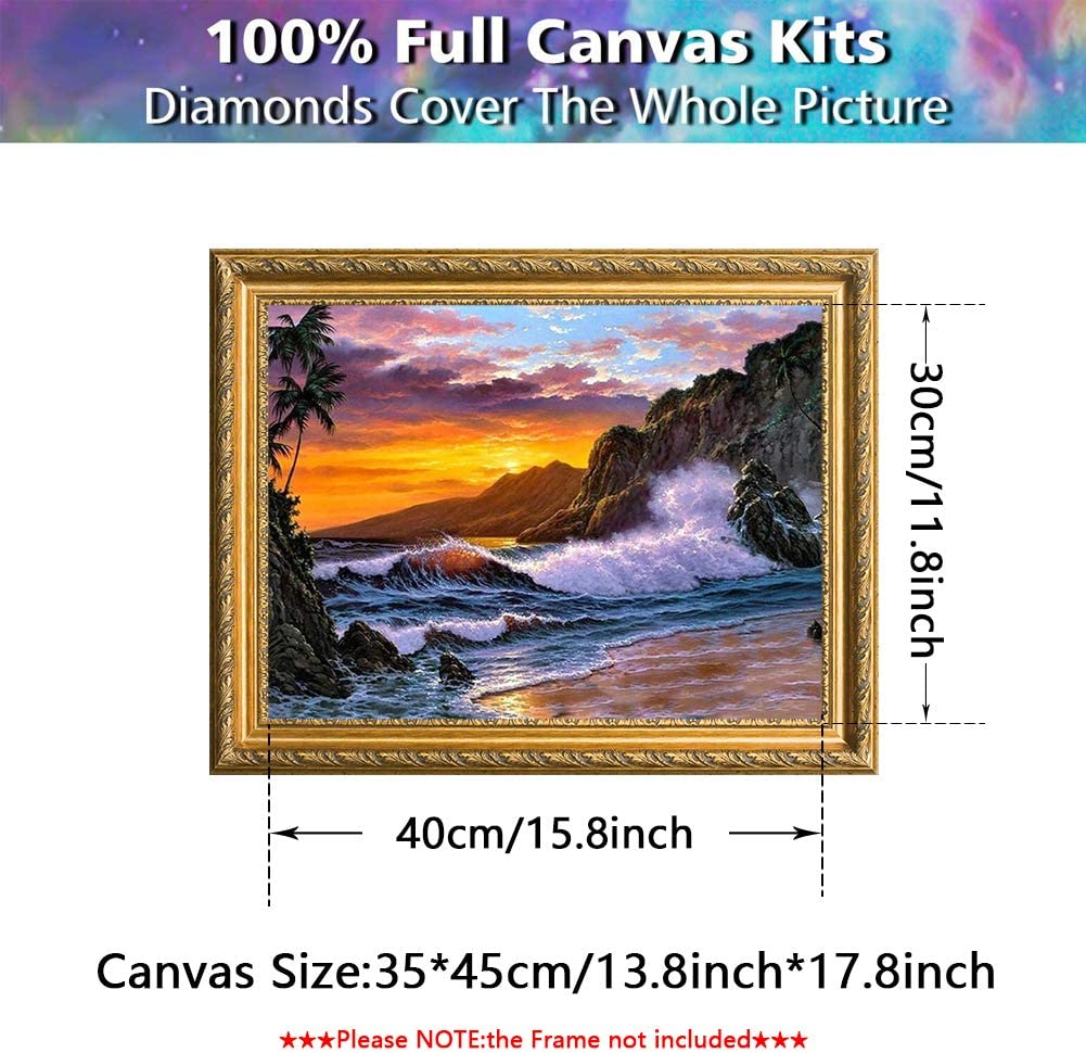 Diamond Painting,DIY 5D Diamond Paint by Numbers for Adults Kids,Diamond Painting Kits for Adults Cross Stitch Full Drill Paint Crystal Embroidery Kit Cross Stitch Arts Craft for Home Decor 14 X 18
