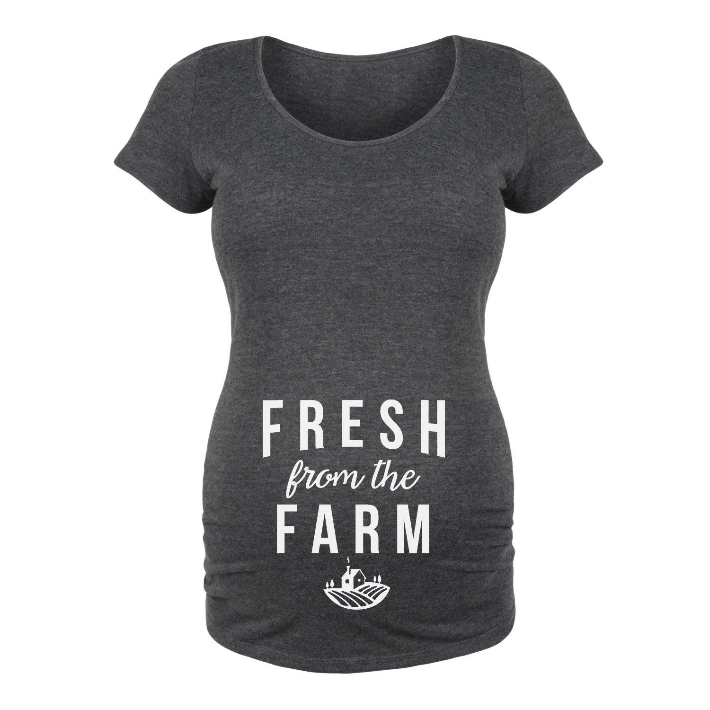 FreshからThe farm-maternity-belly M ヘザーチャコール B071S7CLXY
