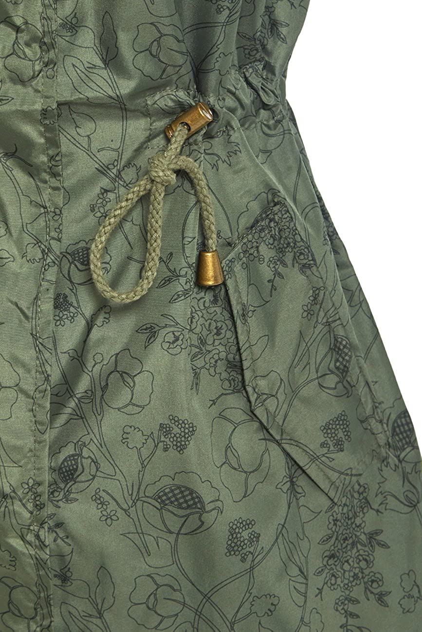 SS7 Womens Floral Parka Raincoat Sizes 8 to 16