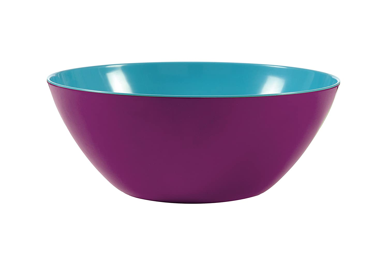French Bull Melamine Two-Tone Large Bowl, Grape and Turquoise 72342