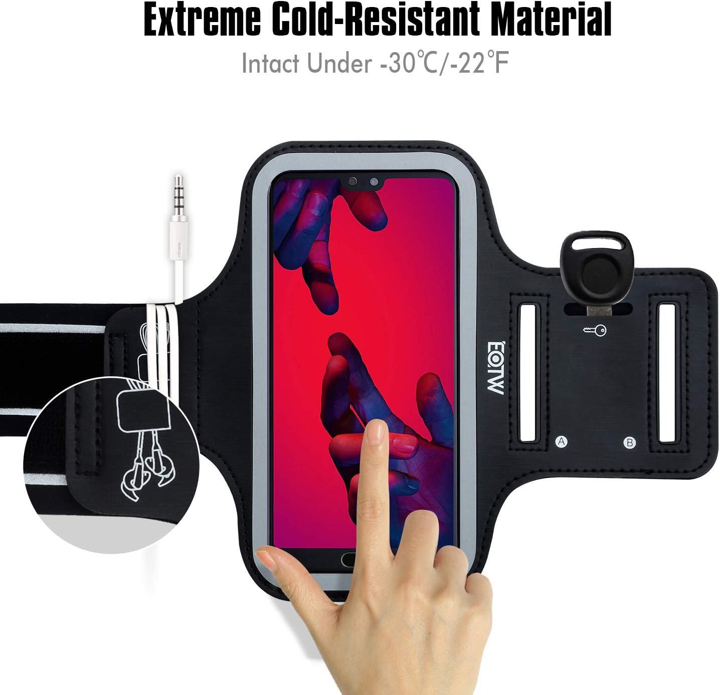 Rouku Fascia da Braccio Sportiva in Tessuto Assorbente per Il Sudore per Custodia per Telefono Custodia per Cellulare per Braccio