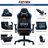 Ficmax Ergonomic Gaming Chair with Footrest