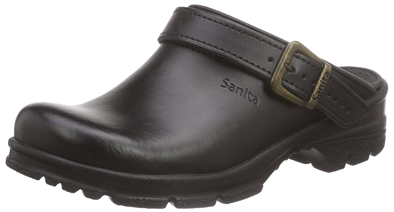 Sanita San-Duty Open-OB, Zuecos Unisex Adulto 43 EU|Black (Black 2)