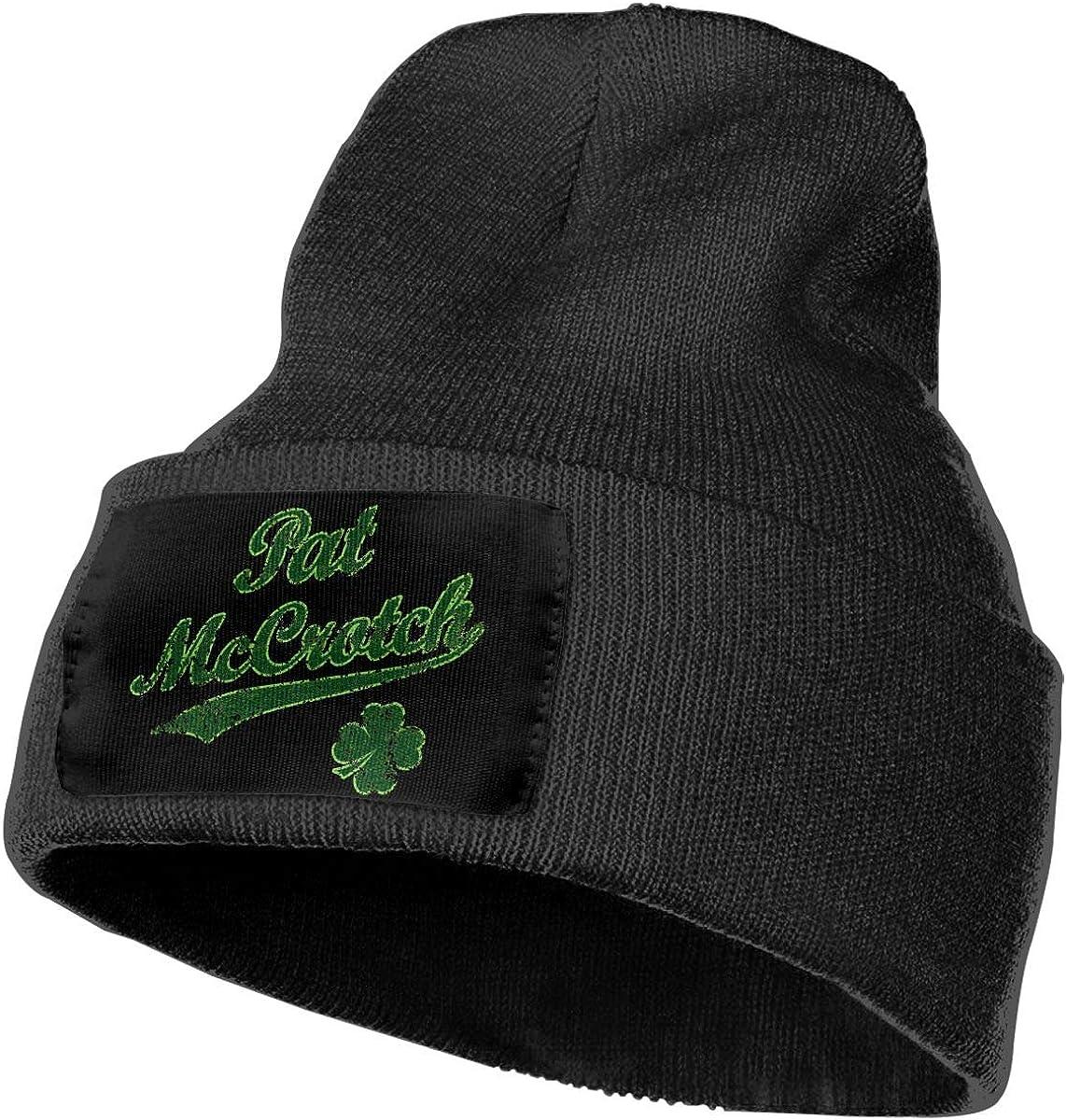 Nspndrktxt Vintage Pat McCrotch Funny Unisex Fashion Knitted Hat Luxury Hip-Hop Cap