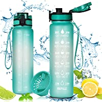 flintronic 1000 ml Lekvrije Beste Sport Waterfles Lek Proof, BPA Gratis Tritan Plastic Milieuvriendelijke Drinkflessen…