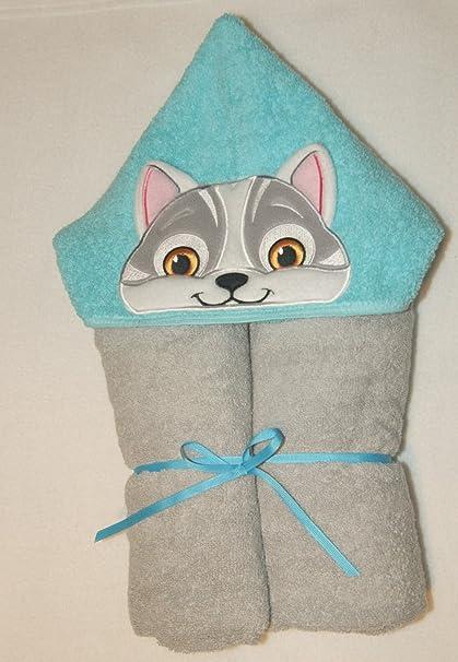 Boy s 3d diseño de gato personalizado hecho a mano 100% algodón suave de
