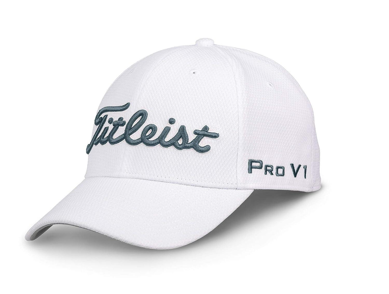 Titleist ツアーエリートホワイトコレクションゴルフキャップ 2018年 Medium/Large ホワイト/チャコール B078XHYRM5