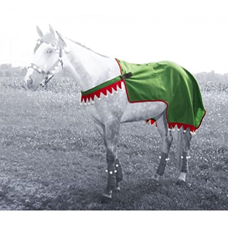 Christmas Horse.Amazon Com Tough 1 Christmas Holiday Horse Wear Red Green