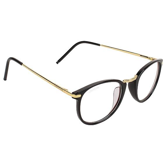 2caa4a8753a Creature Raised Metal Bridge Retro Round unisex Glasses (Lens-Clear ...